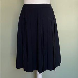 New Theory Haidin Wool Pleated Skirt